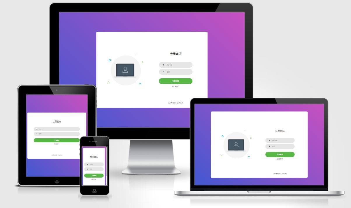 代刷网用户登录简洁美化模板